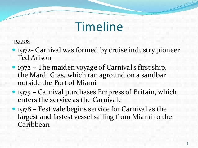 Final Carnival - History of cruise ship industry