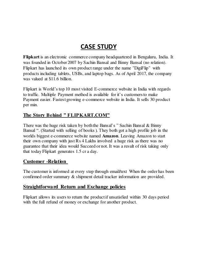 Case-Study Flipkart