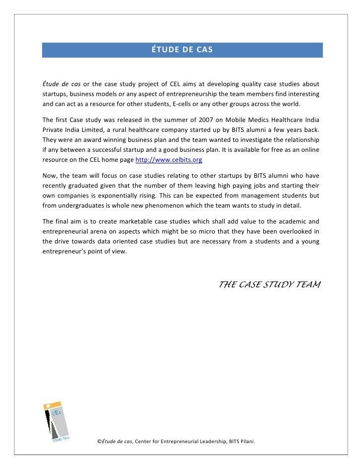 entrepreneurship case study india