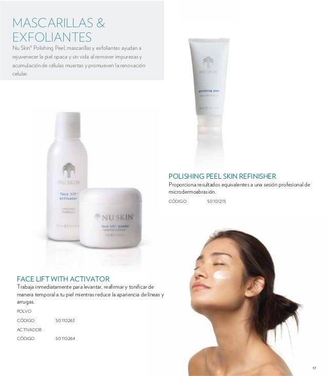 17  MASCARILLAS &  EXFOLIANTES  Nu Skin® Polishing Peel, mascarillas y exfoliantes ayudan a  rejuvenecer la piel opaca y s...