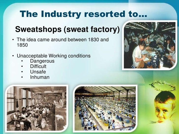 Examples List on Sweatshops