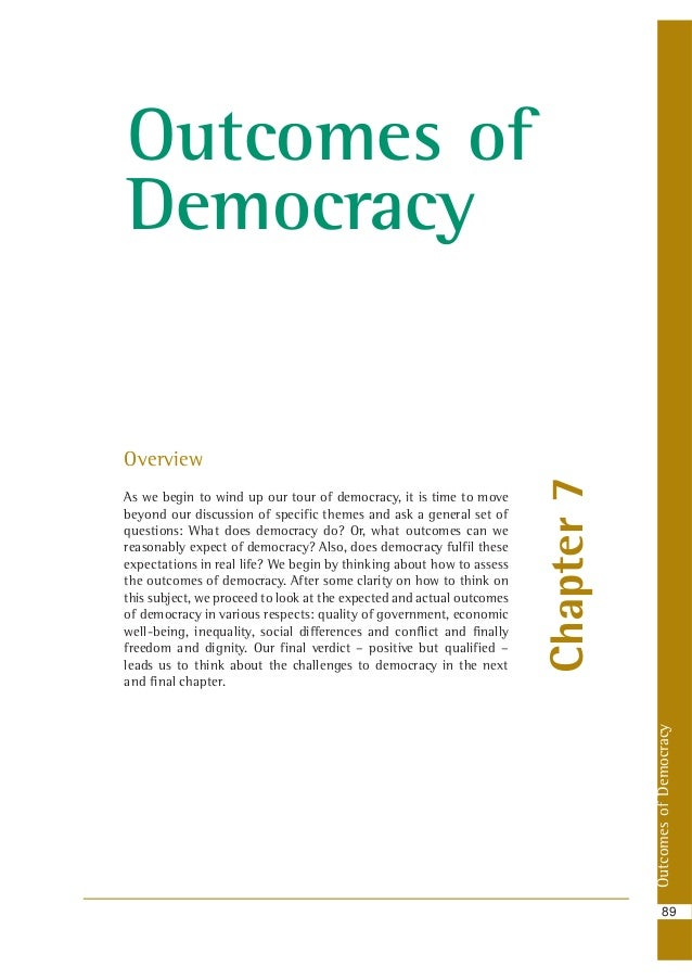an overview of democracy Free study guides and book notes including comprehensive chapter analysis, complete summary analysis, author biography information, character profiles, theme analysis, metaphor analysis, and top ten quotes on classic literature.