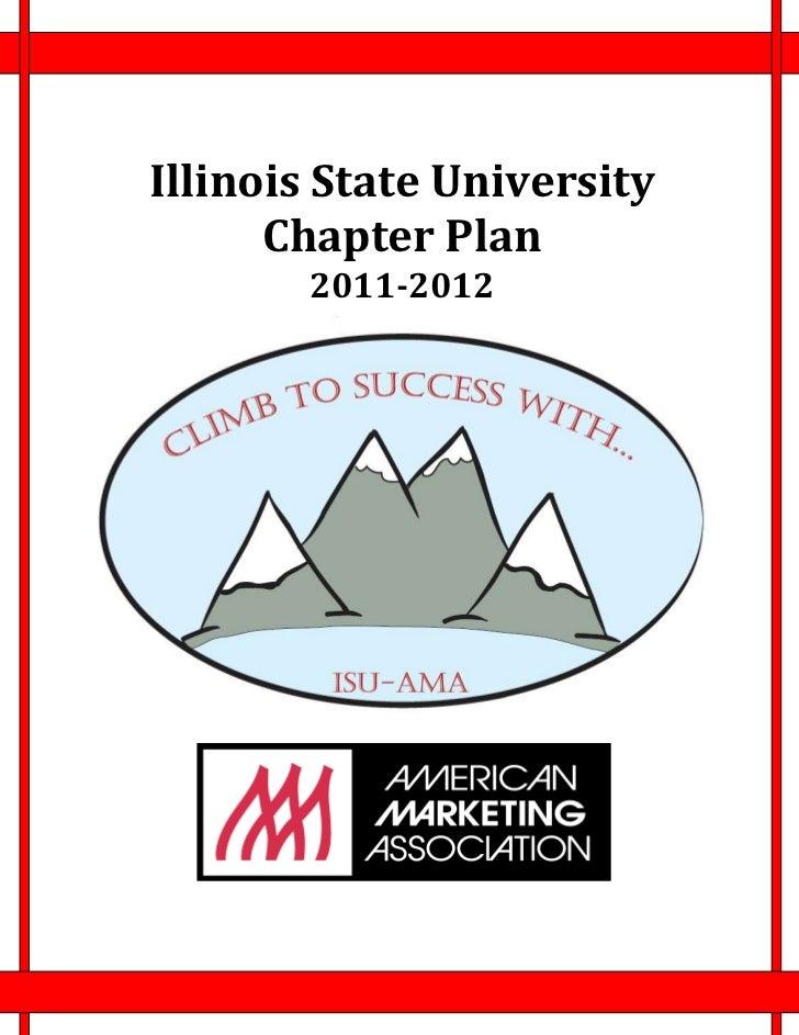 Illinois State University      Chapter Plan       2011-2012