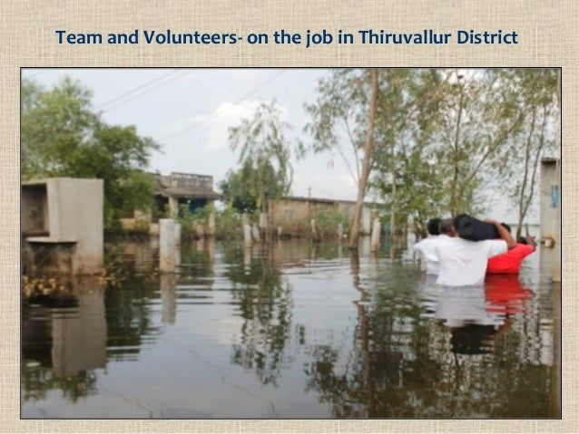 Team and Volunteers- on the job in Thiruvallur District