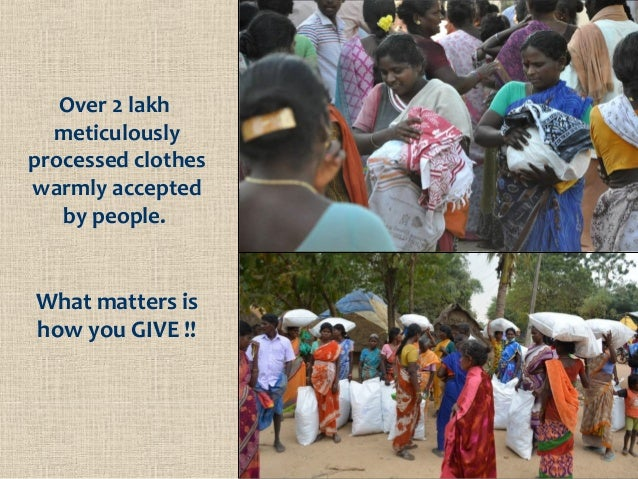 Over 2 lakh meticulously processed clothes warmly accepted by people. What matters is how you GIVE !!
