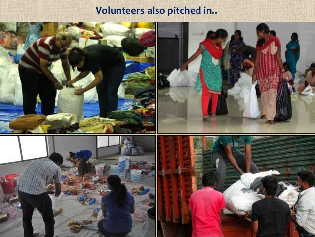 Volunteers also pitched in..