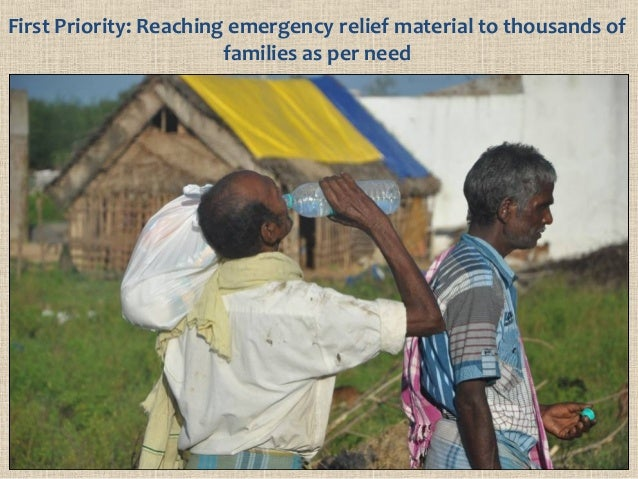First Priority: Reaching emergency relief material to thousands of families as per need