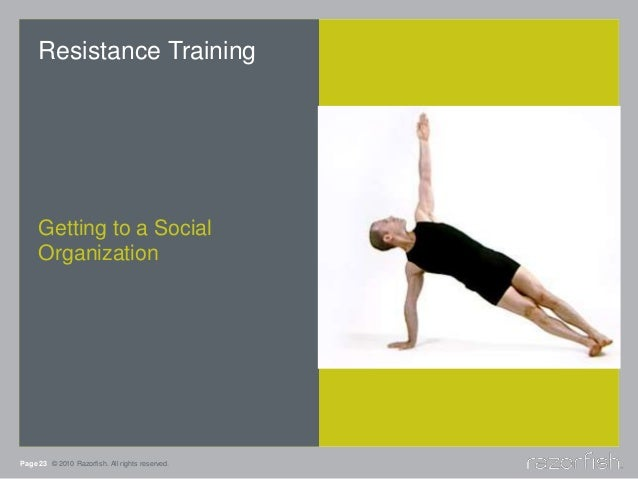 Page 23 © 2010 Razorfish. All rights reserved. Resistance Training Getting to a Social Organization