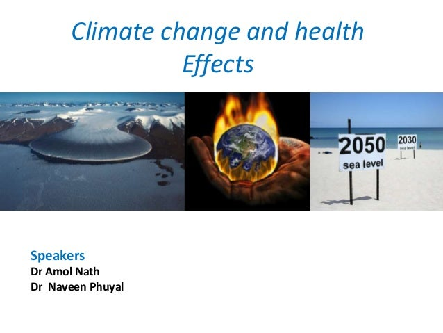 climate change and its effect