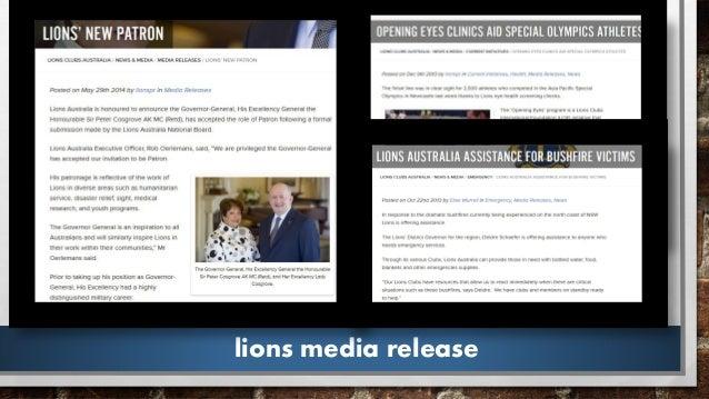 lions media release