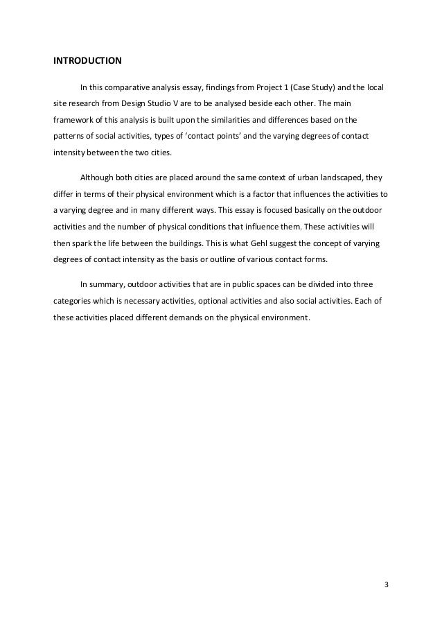 Sample Essay English  Society Conclusion References   Introduction In This Comparative  Analysis Essay  Essays Papers also Thesis Statement For Comparison Essay Final Comparative Essay Print How To Write An Application Essay For High School