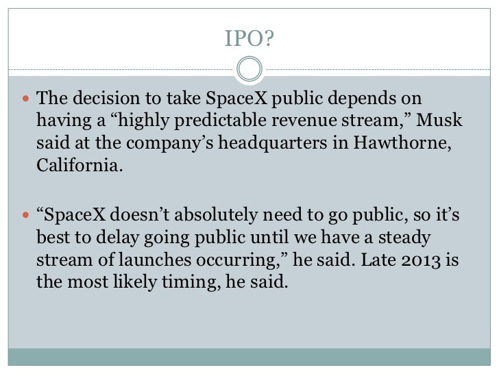 spacex is a public company - photo #22