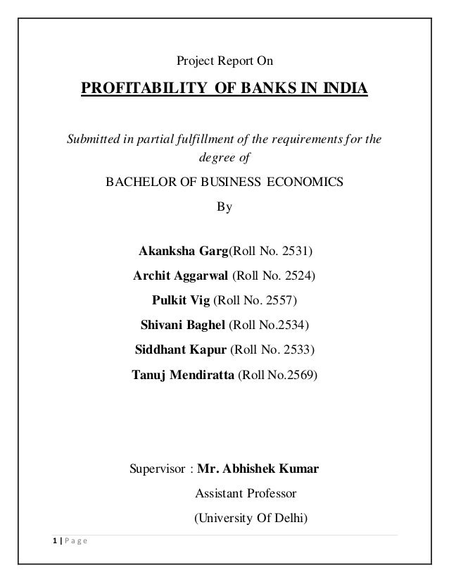 a longitudinal case study of profitability reporting in a bank