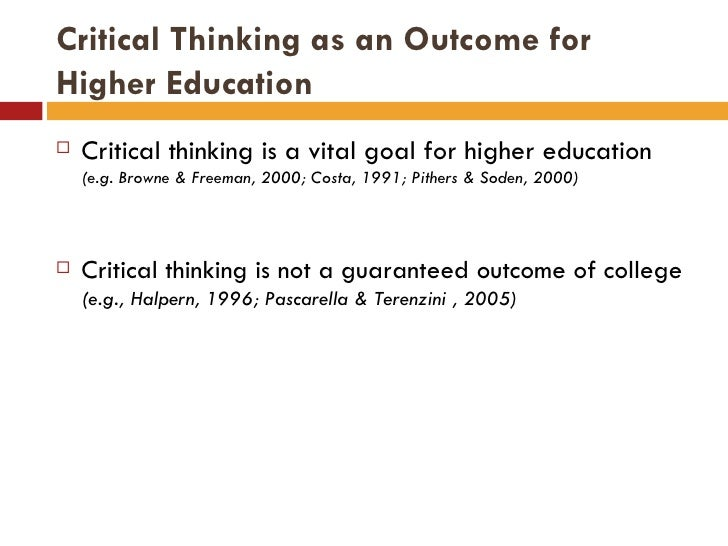 Critical thinking conference