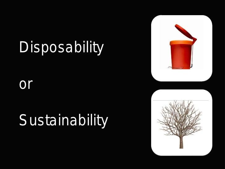 DisposabilityorSustainability