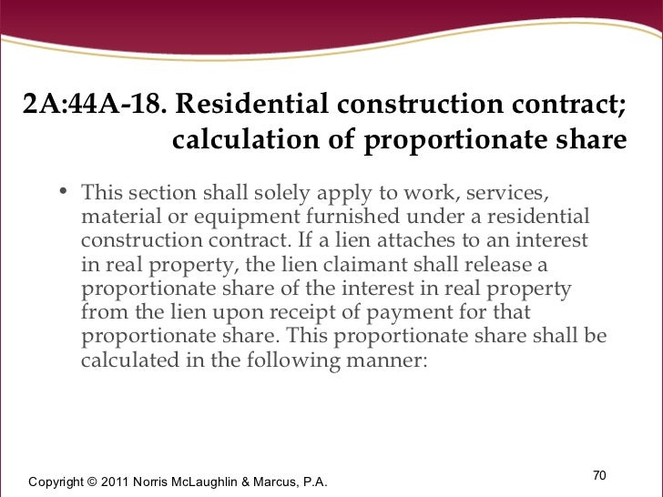 Amendments To New Jersey 39 S Construction Lien Law