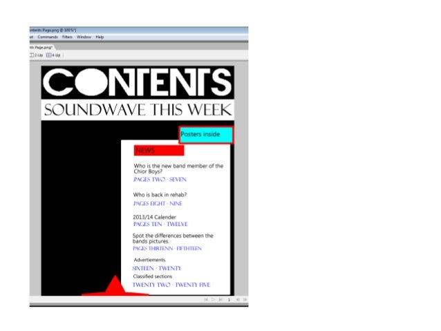 Final contents page Slide 2