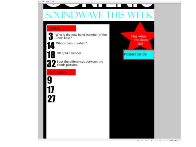 Final contents page Slide 3