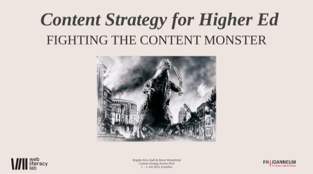Content Strategy for Higher Ed
