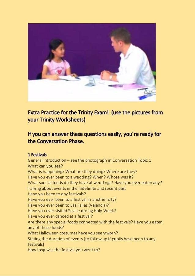 Trinity Conversation Questions