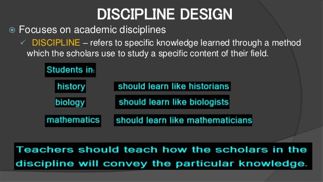 advantages of subject centered curriculum design Finding the right curriculum to suit your child's learning style  each subject –  and base the education of their children on the curriculum of their.