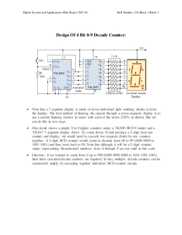 Pleasing Project Report On 0 9 Decade Counter Wiring Cloud Hisonuggs Outletorg