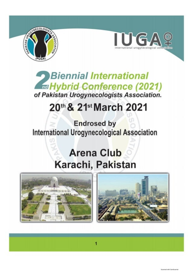 """Souvenir Book of 2nd Biennial International Hybrid Conference of PUGA"""" which was held on 20th & 21st March 2021 at Arena C..."""