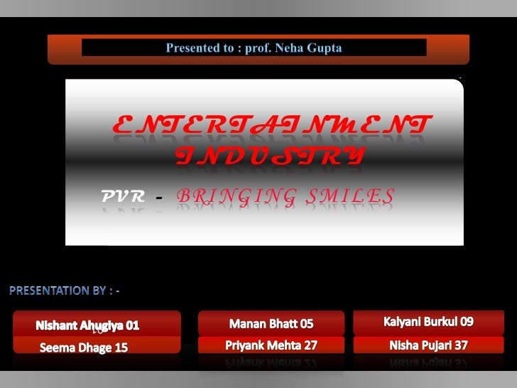 ENTERTAINMENT        INDUSTRY PVR -   BRINGING SMILES01