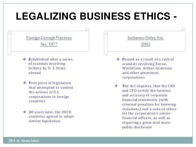 Ethics In A Corporate Environment Slide 3