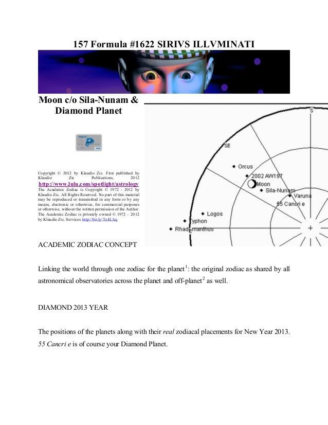 157 Formula #1622 SIRIVS ILLVMINATI       0H Moon c/o Sila-Nunam &    Diamond Planet                     1HCopyright © 201...