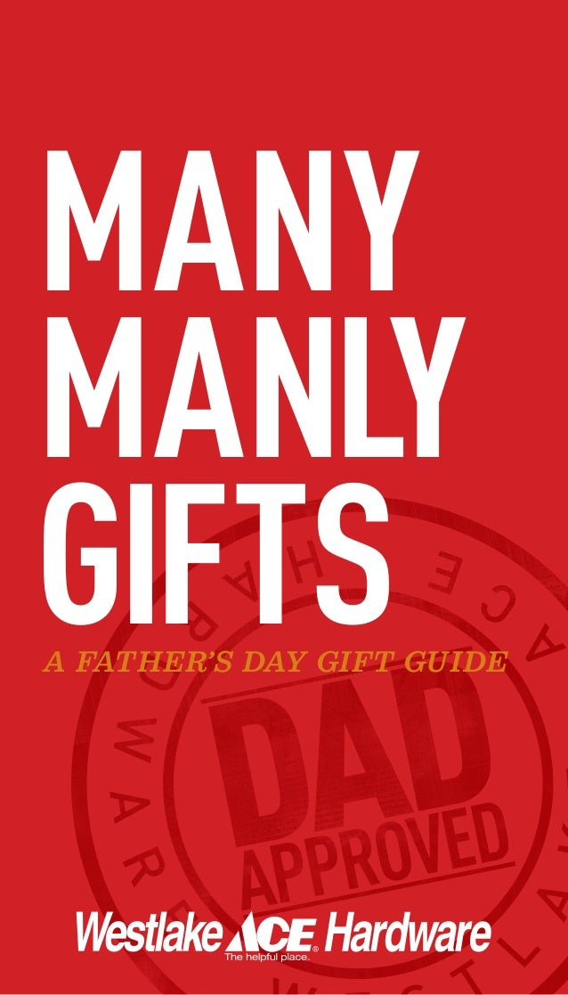 MANYMANLYGIFTSA FATHER'S DAY GIFT GUIDE