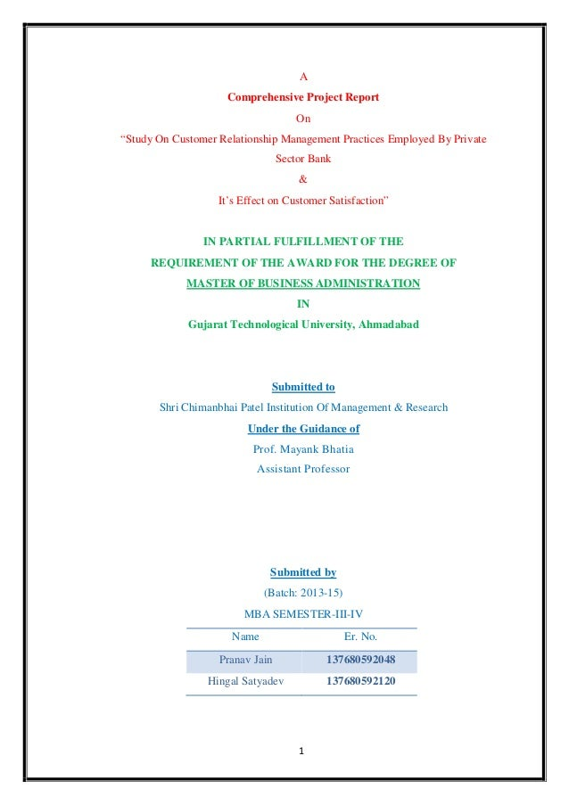 thesis on customer relationship management in banking sector Imperatives of customer relationship management in nigeria banking the imperatives of customer relationship management in the nigeria banking.