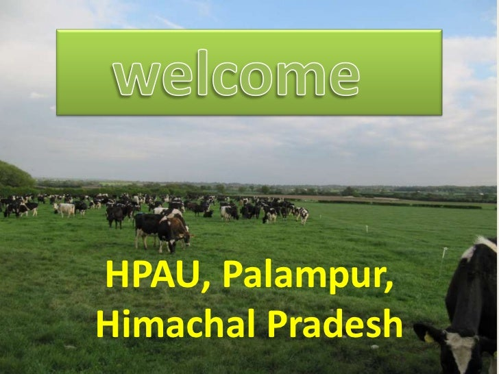 HPAU, Palampur,Himachal Pradesh