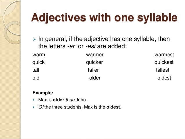What is the comparative and superlative to the word warm ...