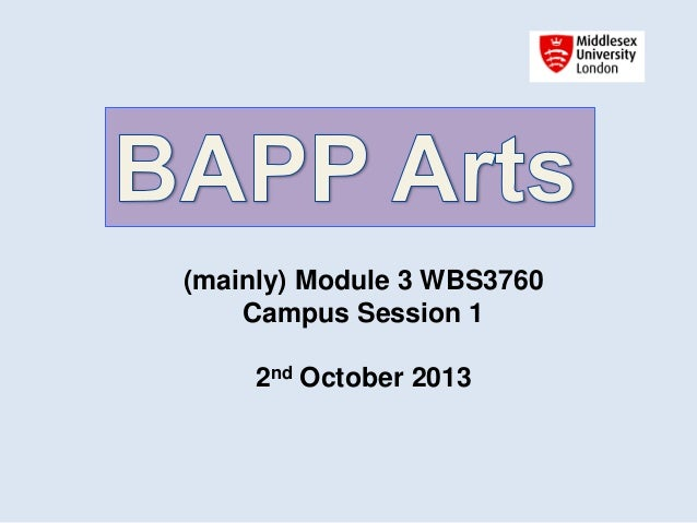 (mainly) Module 3 WBS3760 Campus Session 1 2nd October 2013