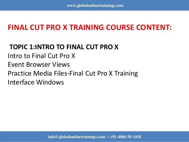 Final Cut Pro X Training | Final Cut Pro X Online Training