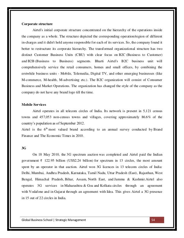 strategic management process airtel Pricing strategies and customer retention the case of airtel (t) ltd gibson gidion ndyamukama magdalena wenceslaus machibya bachelor's thesis.