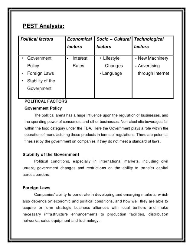 Tata tea pest analysis
