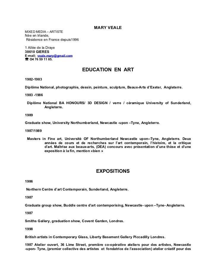 MARY VEALEMIXED MEDIA – ARTISTENée en Irlande,Résidence en France depuis19961 Allée de la Draye38610 GIERESE-mail; veale.m...