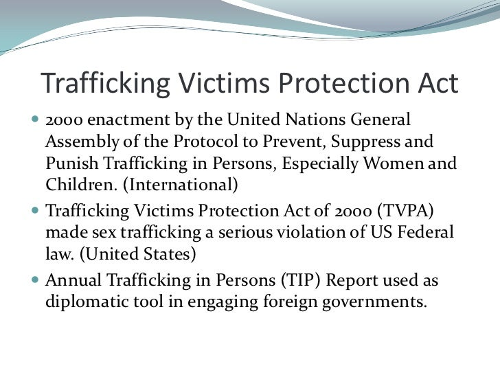 sex trafficking is a serious violation