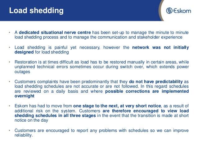 Eskom Load Shedding Schedule: Eskom Load Shedding Update