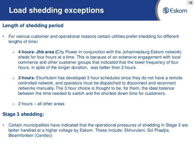 Load Shedding Johannesburg: Eskom Load Shedding Update