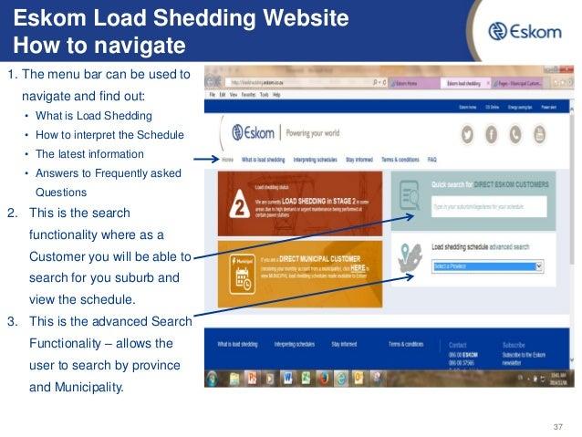 Eskom Load Shedding Schedule Picture: Eskom Load Shedding Update
