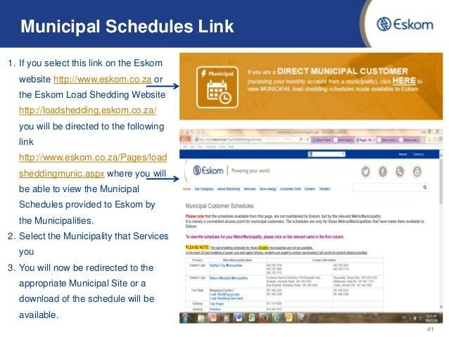 Load Shedding Schedule Eskom Wallpaper: Eskom Load Shedding Update