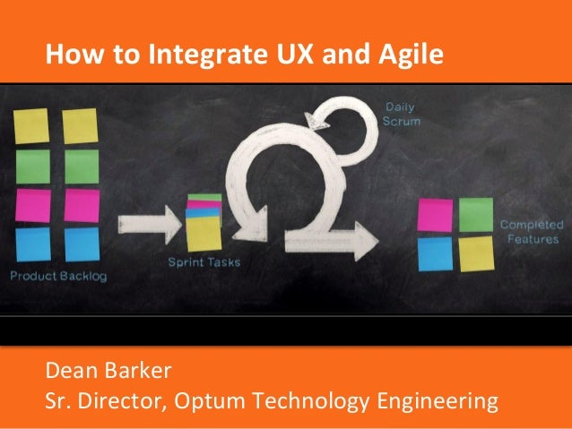 How to Integrate UX and Agile  Dean Barker  Sr. Director, Optum Technology Engineering