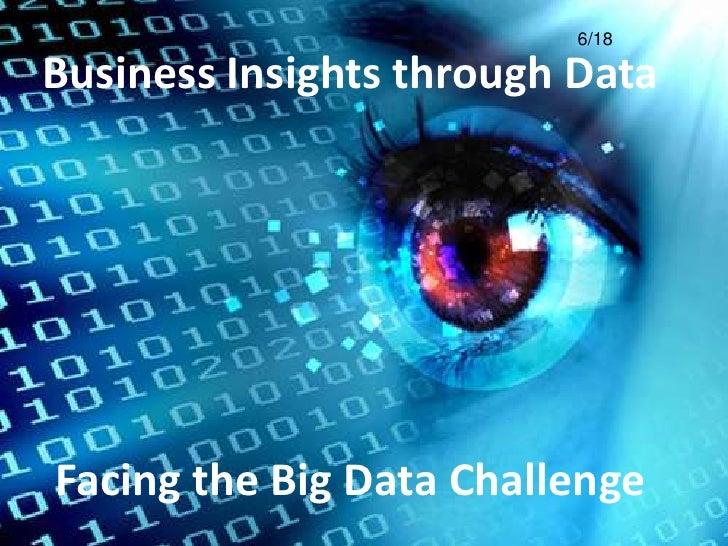 6/18Business Insights through DataFacing the Big Data Challenge