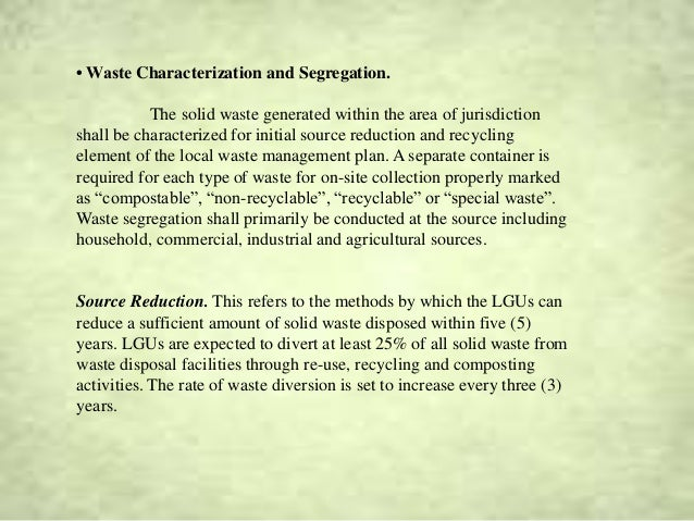 review of related literature on proper waste disposal Review of related literature josol apdongencianeorolando idefinition of wastes iiclassification of wastes a solid wasteb liquid wastecsludged hazardous waste iiiwaste management a waste management in developed nations1.