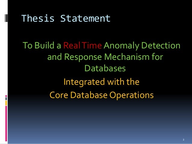 Mechanisms for Database Intrusion Detection and Response SlideShare