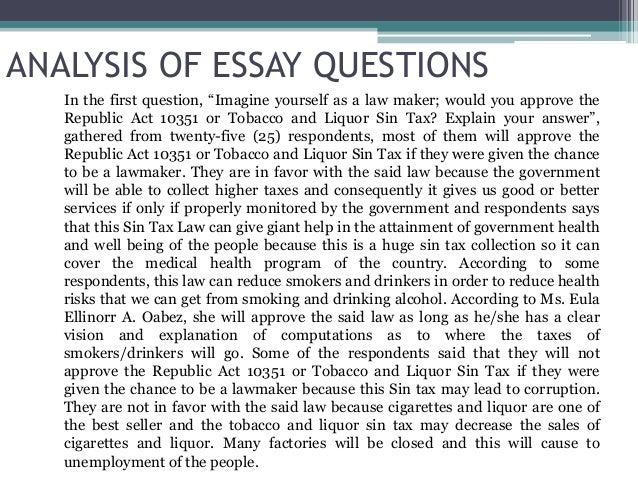 Alcoholic republic essay
