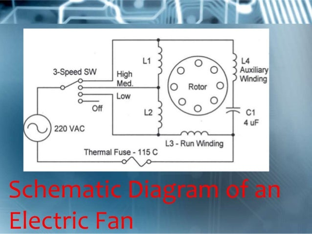 electric fan rh slideshare net electric table fan circuit diagram electric ceiling fan circuit diagram